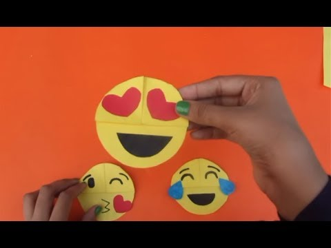 DIY How to Make Emoji Books Marks - Daily Paper Art Crafts