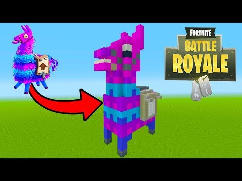 Minecraft Tutorial: How To Make A Fortnite Llama Statue House