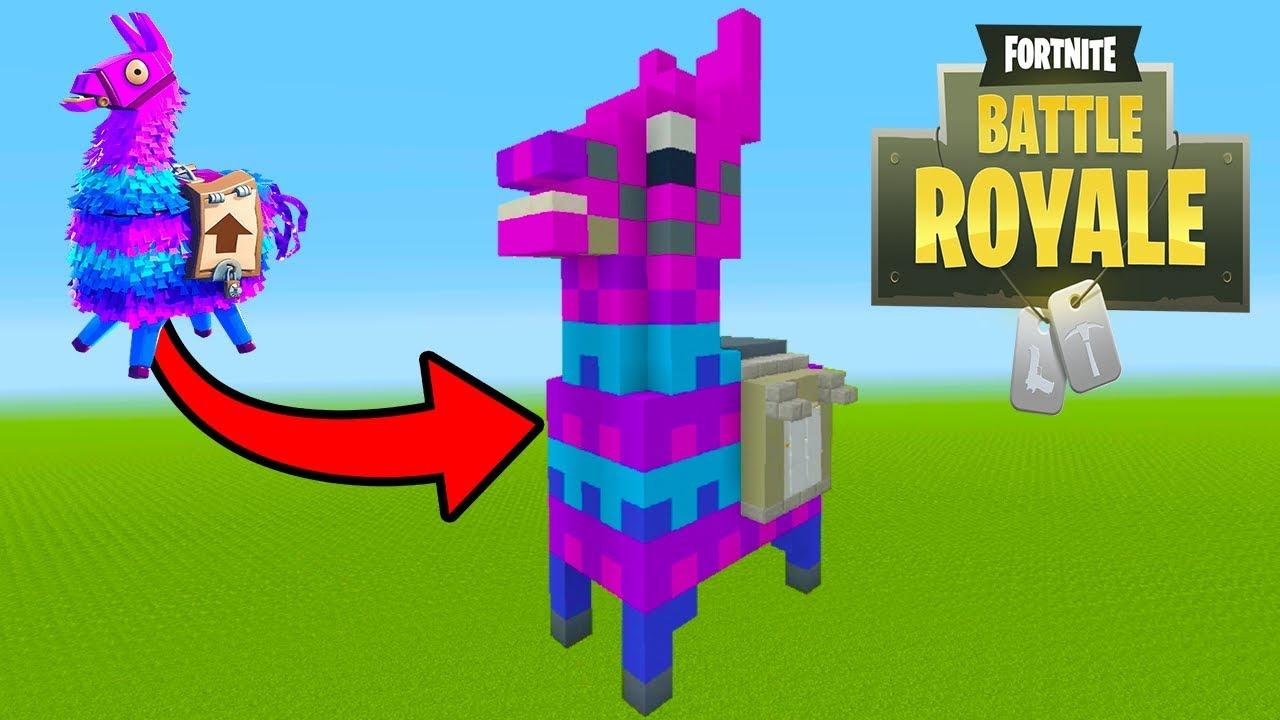 Minecraft Tutorial How To Make A Fortnite Llama Statue House Fortnite Battle Royale