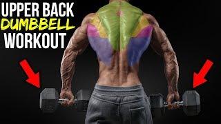 BEAST Upper Back Dumbbell Workout For MASS (3 EXERCISES!!)