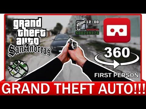 360° VR VIDEO - GTA Real Life - GTA First Person - GTA VR - GTA VIRTUAL REALITY