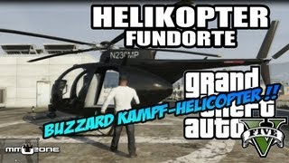 GTA V - Helikopter & Hubschrauber Standorte / Locations - Grand Theft Auto 5 [deutsch]