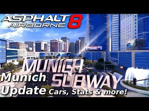 NEW TRACK!!! Asphalt 8: Munich Update - vehicle stats & other info