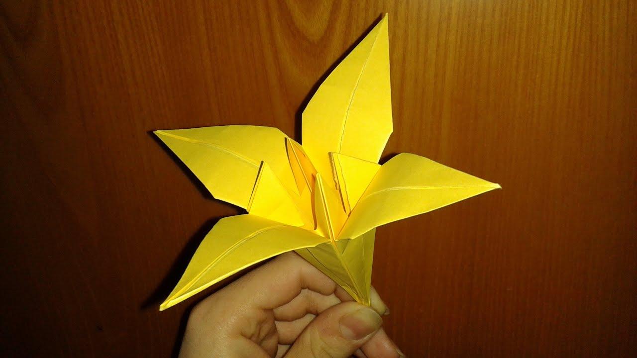 0rigami Fiori.Origami Fiore Di Iris Facile Youtube