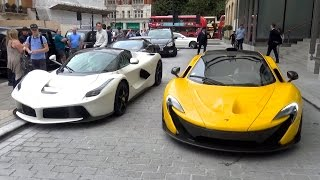 The great arab supercar invasion in london, 2016 - chiron, laferrari, aventadors and more!