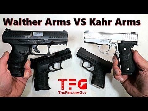 Walther Arms versus Kahr Arms - Handgun Showdown - TheFireArmGuy