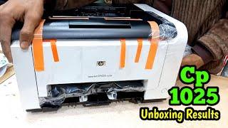 Hp Cp1025 4 Color High Resulation Laserjet Pro Unboxing & Test Results