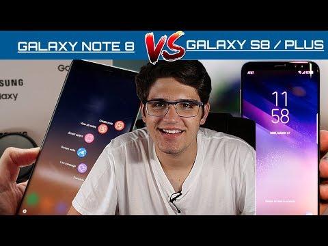 SAMSUNG GALAXY NOTE 8  VS. GALAXY S8 / S8 PLUS, ¿Cuál es MEJOR? ¿Cuál me COMPRO?, español