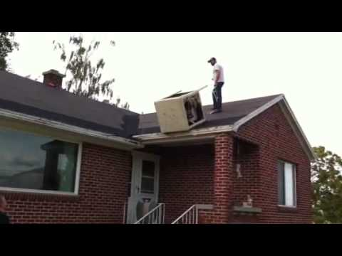 Taking A Swamp Cooler Off The Roof Youtube