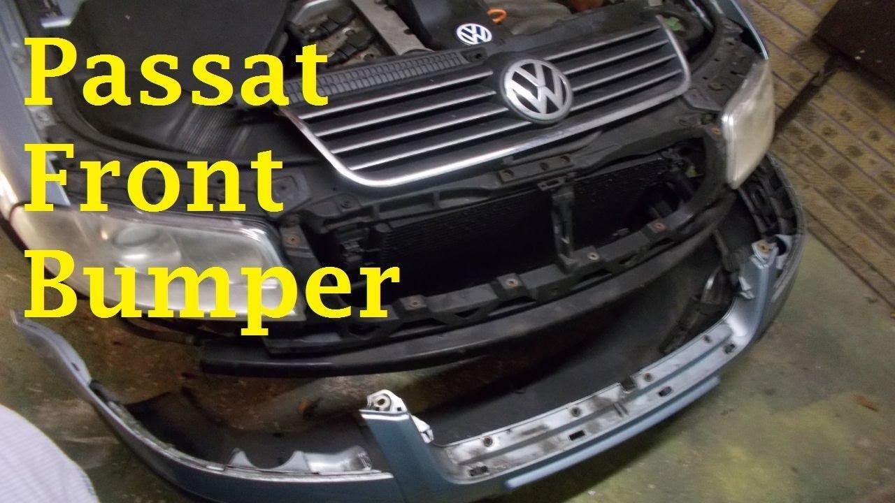 medium resolution of volkswagen passat front bumper removal