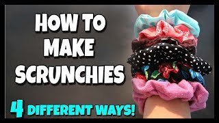 4 Ways To Make Scrunchies! 📍 How To With Kristin