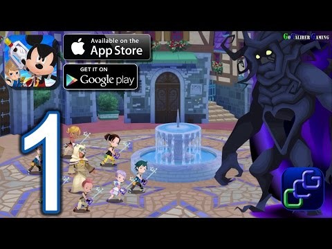 KINGDOM HEARTS Unchained χ Android IOS Walkthrough - Gameplay Part 1 - Daybreak Town