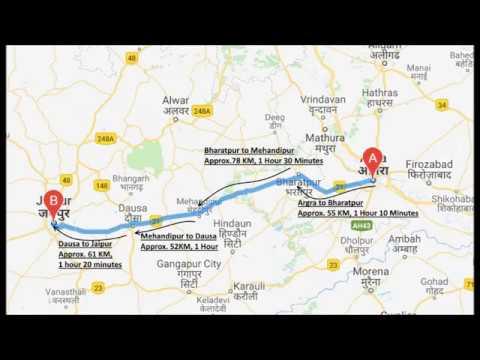 Google Map Route Agra / Mathura To Jaipur Travelers, Truck, Taxi Drivers || Agra Jaipur Mathura