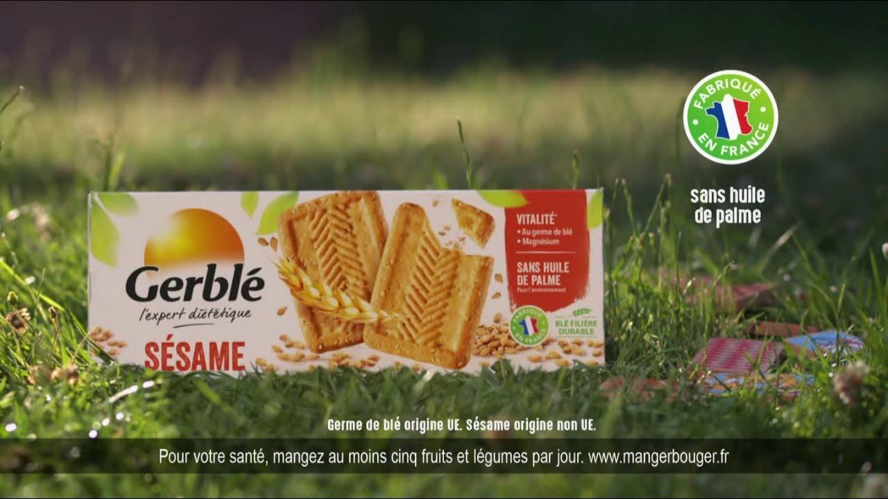 """Musique de la pub Biscuits aux graines sésame Gerblé """"transmettons le goût de bien manger""""  2021"""