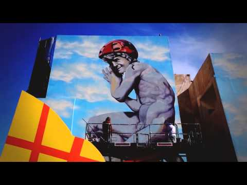 BA Street Art mural project with Martin Ron in Buenos Aires