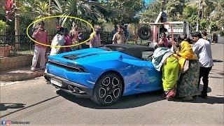 Lamborghini Huracan Spyder DELIVERY Reactions😂 - INDIA(Hyderabad)