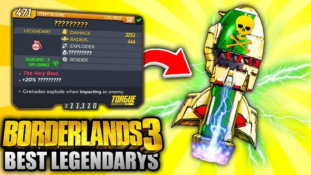 Borderlands 3 - Top 5 MOST POWERFUL Legendary Grenades YOU NEED TO GET! thumbnail