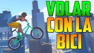 INCREÍBLE! TRUCAZO VOLAR INFINITAMENTE CON LA BICI!! - Gameplay GTA 5 Online