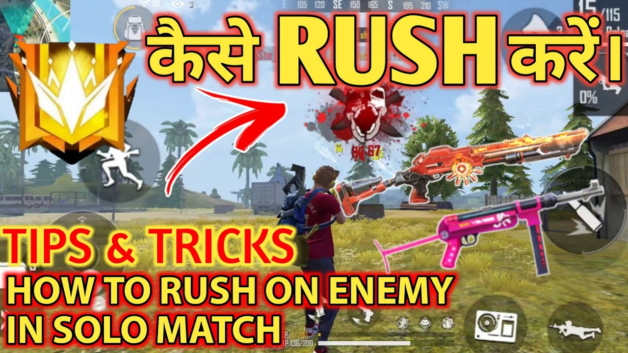 HOW TO RUSH ON ENEMY IN SOLO RANKED MATCH - #JONTYGAMING - GARENA FREEFIRE BATTLEGROUND