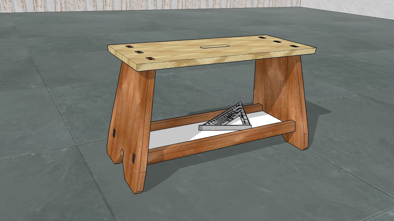 Design Model And Build A Professional Carpenter S Footstool Youtube