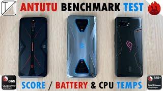 RedMagic 5G vs Black Shark 3 Pro vs ROG Phone 2 AnTuTu Benchmark Test