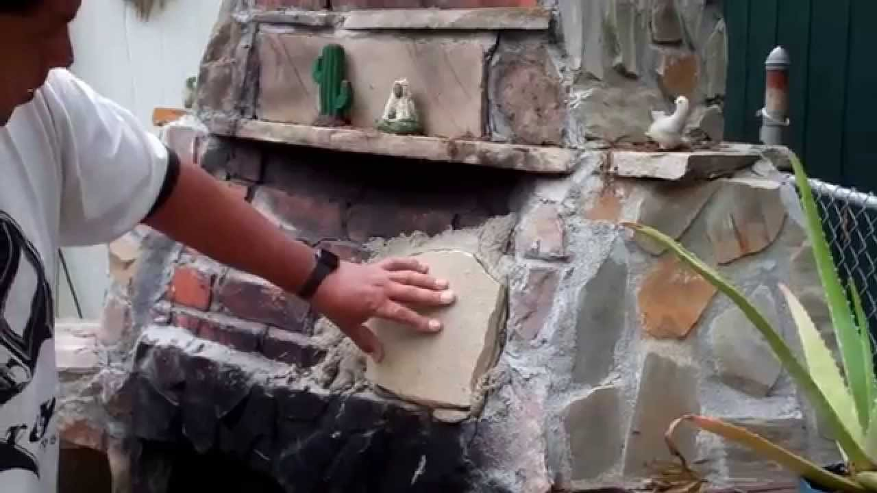 my outdoor fireplace gets a facelift youtube