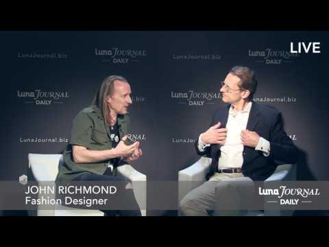 Interview with John Richmond Fashion Designer at Pitti Bimbo 85