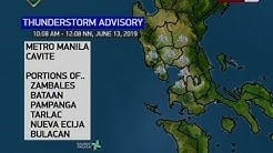 BT: Weather update as of 12:26 p.m. (June 13, 2019)