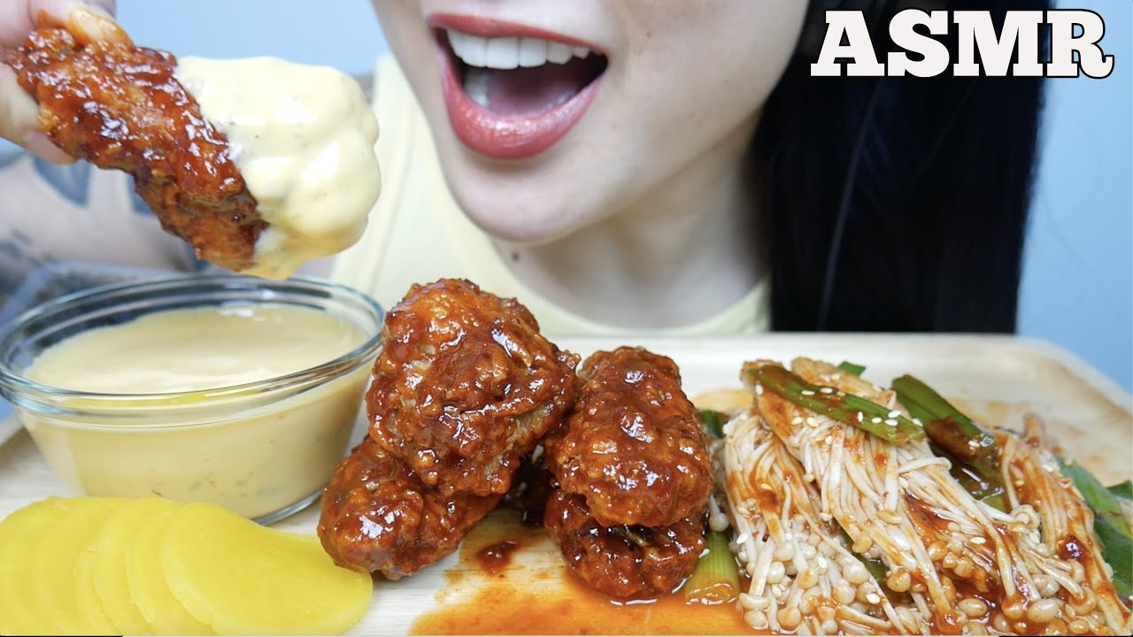 Asmr Korean Fried Chicken Spicy Enoki Mushroom Cheese Sauce Eating Sounds No Talking Sas Asmr Youtube Asmr mcdonalds fried chicken larb fries cheese sauce (satisfying crunchy eating sounds) no talking. asmr korean fried chicken spicy enoki mushroom cheese sauce eating sounds no talking sas asmr