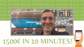 TRADING while TRAVELING - 1500€ in 10 minutes on the stock market