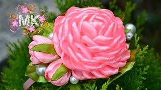 майстер клас як зробити троянду з атласних стрічок