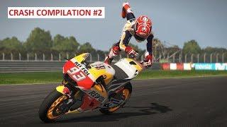 MotoGP 17   Crash Compilation #2   PC GAMEPLAY   TV REPLAY MotoGP GAME