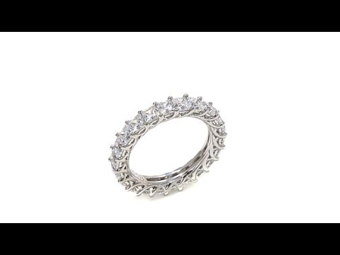 Absolute ProngSet PrincessCut Eternity Band Ring. https://pixlypro.com/5YVIlLn