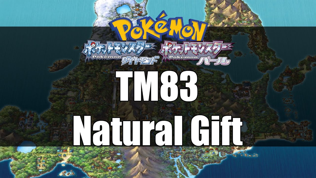 Pokemon Diamond & Pearl - Where to get TM83 Natural Gift - YouTube