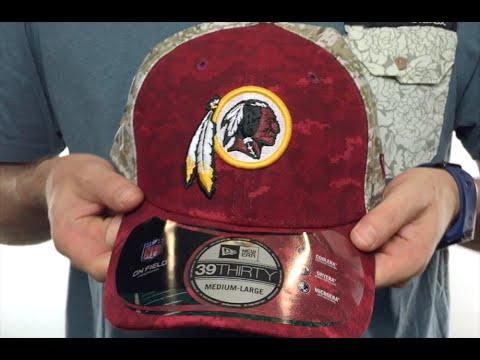 c8b5ac97f62 Redskins  2015 SALUTE-TO-SERVICE  Desert-Burgundy Flex Hat by New ...