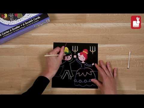 Atelier Janod - Art Créatif - Cartes à Gratter Cendrillon