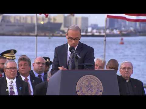 Mayor de Blasio Delivers Remarks at the Staten Island Borough President's 9/11 Memorial Ceremony