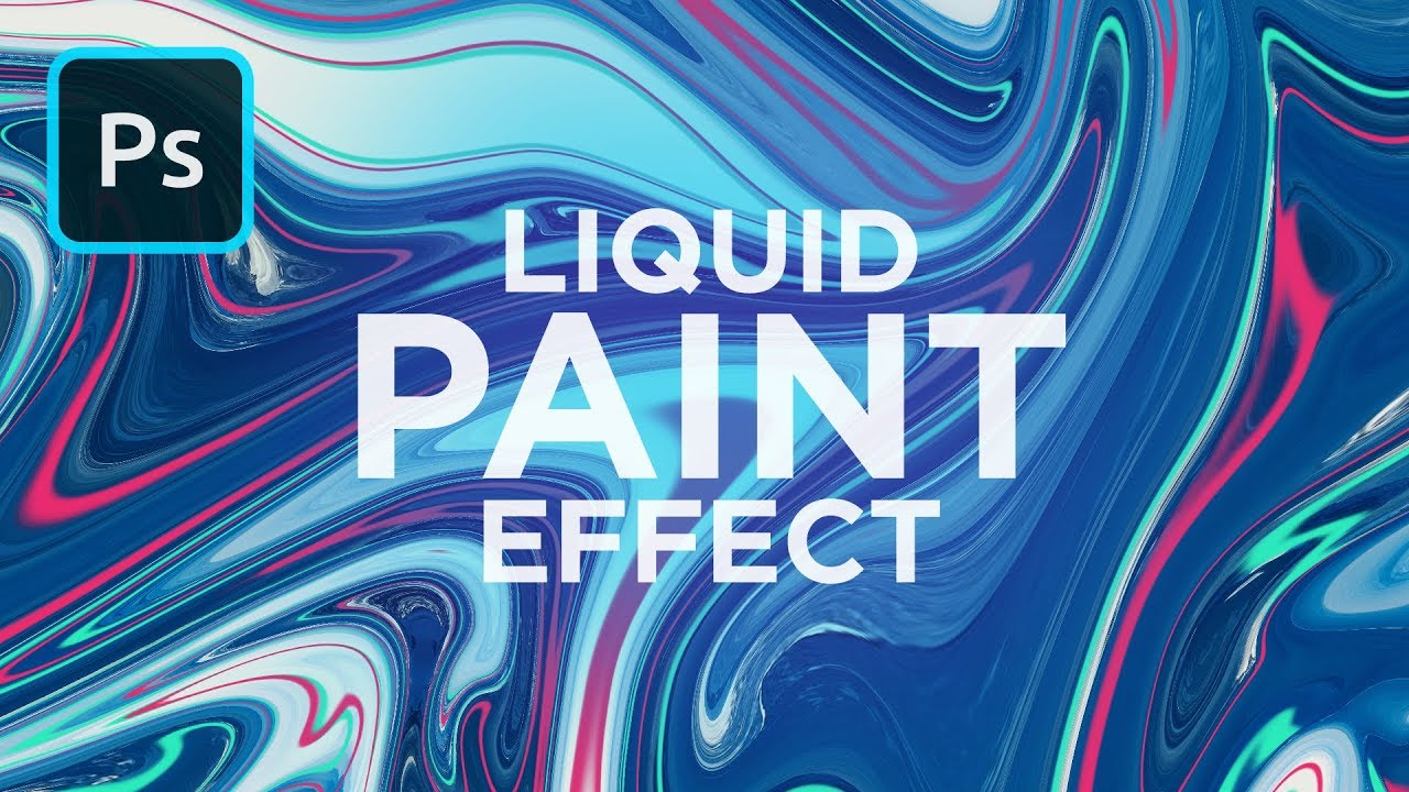 Liquid Paint Marbling Effect In Photoshop Youtube