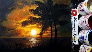 Sunset painting - sunset