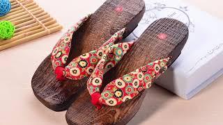 Heel Flip-Flops Summer women sandals shoes Flats sabots.mp4