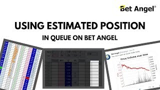 Betfair trading - Using estimated position in queue on Bet Angel