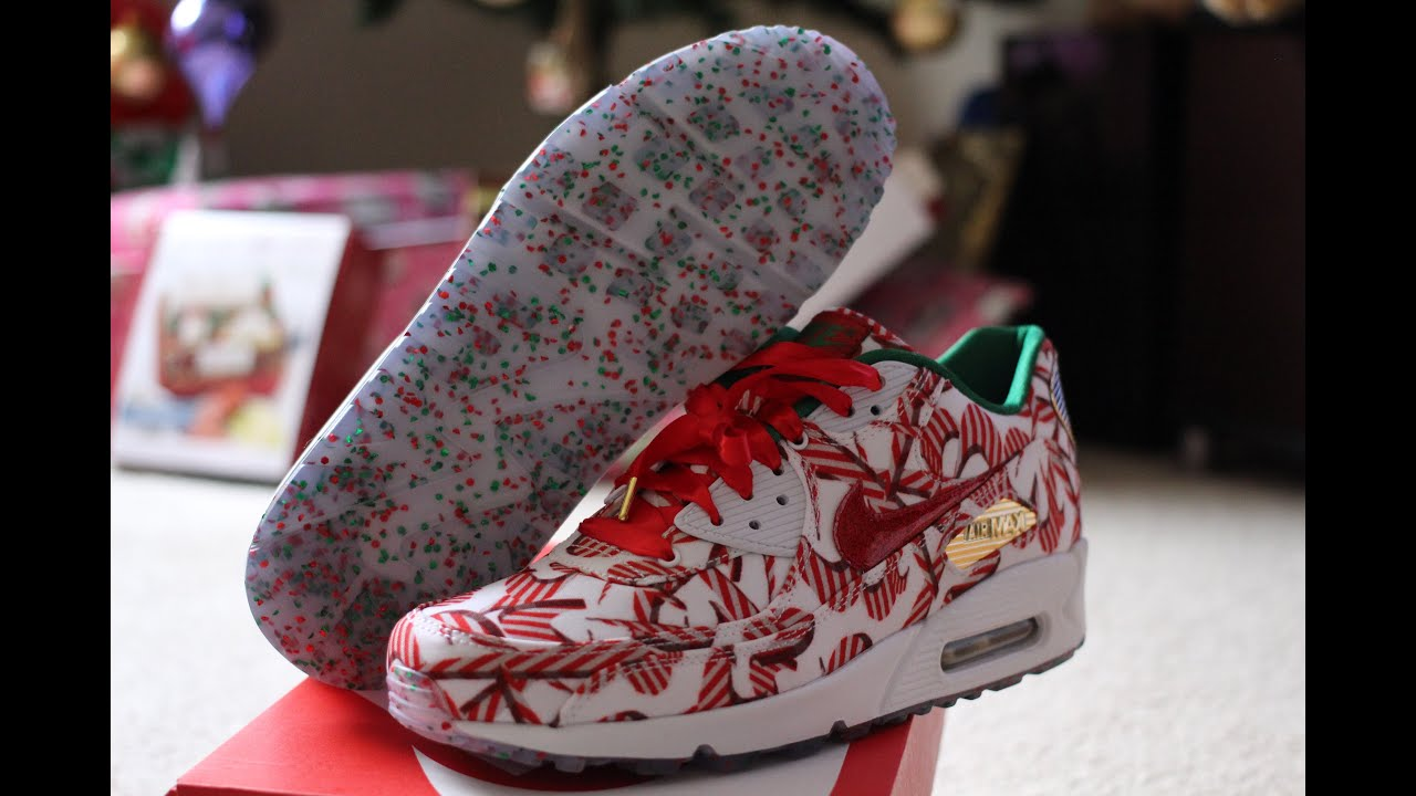 Nike Unboxing of Christmas 2015 Air Max 90 QS for Women - YouTube