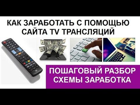 Как новичку заработать на сайте ТВ трансляций   разбер методики в режиме онлайн