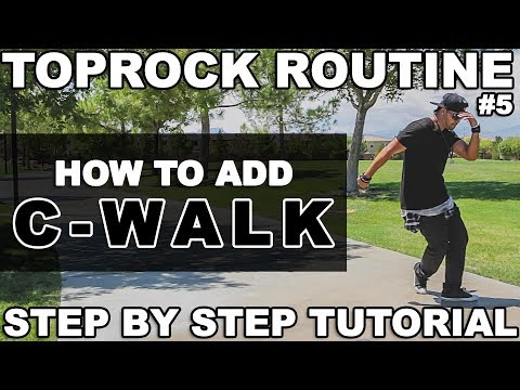 How To Breakdance | Top Rock Routine #5 | C-Walking | Step by Step Tutorial | by Bboy Unique