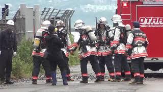 危険物施設でブラインド型火災防御訓練画像