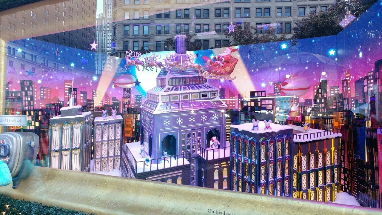 macys 2017 christmas window display new york usa - Is Macys Open On Christmas