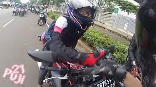 sunday morning ride with lady biker + (tangerang motovloger) + acquainted lady biker copyright