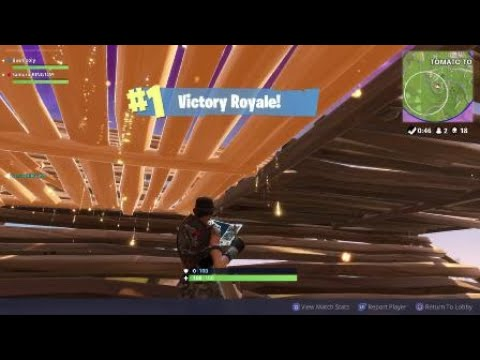 Fortnite win straight after update