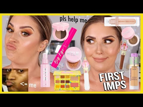 FULL FACE of FIRST IMPRESSIONS 👀 literally hate almost everything 😅 thumbnail