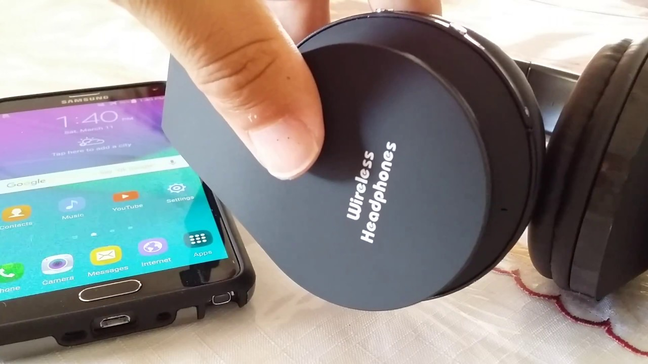 how to pair wireless bluetooth headphones to samsung note 4 youtube. Black Bedroom Furniture Sets. Home Design Ideas